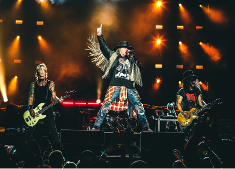 Guns n Roses on stage