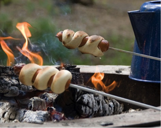 Pig in a blanket…on a stick