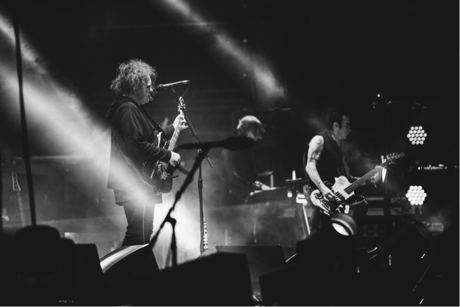 The cure performing on stage