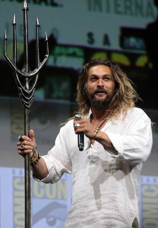 Aquaman Actor holding a trident