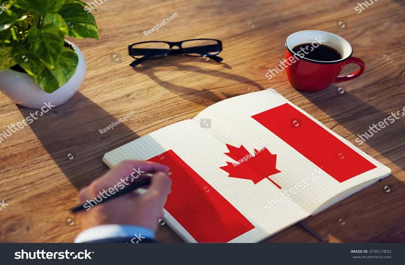 Canadian flag notebook